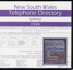 New South Wales Telephone Directory 1934: Sydney