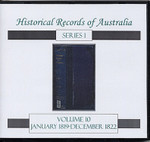 Historical Records of Australia Series 1 Volume 10