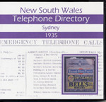 New South Wales Telephone Directory 1935: Sydney
