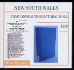 New South Wales Commonwealth Electoral Roll 1939 West Sydney