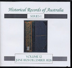 Historical Records of Australia series 1 Volume 12
