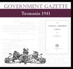 Tasmanian Government Gazette 1941