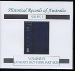 Historical Records of Australia Series 1 Volume 13