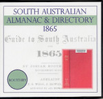 South Australian Almanac and Directory 1865 (Boothby)