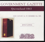Queensland Government Gazette 1863