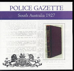 South Australian Police Gazette 1927