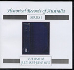 Historical Records of Australia Series 1 Volume 18