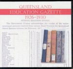 Queensland Education Gazette Compendium 1926-1930