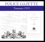 Tasmania Police Gazette 1915