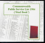 Commonwealth Public Service List 1904 ('Stud Book')