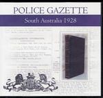 South Australian Police Gazette 1928