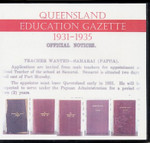 Queensland Education Gazette Compendium 1931-1935
