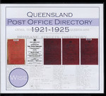 Queensland Post Office Directory Compendium 1921-1925 (Wise)