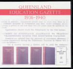 Queensland Education Gazette Compendium 1936-1940