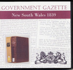 New South Wales Government Gazette 1839