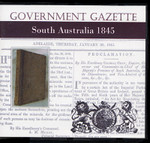 South Australian Government Gazette 1845