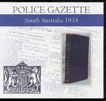 South Australian Police Gazette 1934