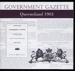 Queensland Government Gazette 1903