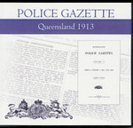 Queensland Police Gazette 1913