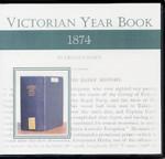 Victorian Year Book 1874