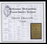 Melbourne Metropolitan Postal District System Street Directory 1936