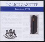 Tasmania Police Gazette 1931