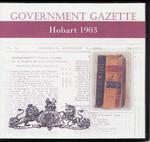 Hobart Government Gazette 1903