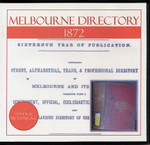 Melbourne Directory 1872 (Sands and McDougall)
