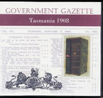 Tasmanian Government Gazette 1908