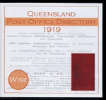 Queensland Post Office Directory 1919 (Wise)