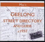Geelong Street Directory and Guide (Mac's) c1937