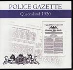 Queensland Police Gazette 1920