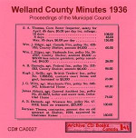 Welland County Minutes 1936: Proceedings of the Municipal Council