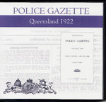 Queensland Police Gazette 1922