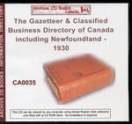 The Gazetteer and Classified Business Directory of Canada (including Newfoundland) 1930