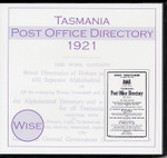 Tasmania Post Office Directory 1921 (Wise)