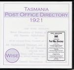 Tasmania Post Office Directory 1921 (Wise)