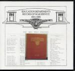 Education Department's Record of War Service 1914-1918