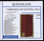 Queensland Commonwealth Electoral Roll 1939 Capricornia