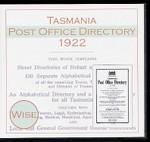 Tasmania Post Office Directory 1922 (Wise)