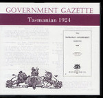 Tasmanian Government Gazette 1924