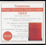 Tasmania Post Office Directory 1923 (Wise)