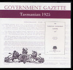 Tasmanian Government Gazette 1925