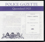Queensland Police Gazette 1925