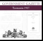 Tasmanian Government Gazette 1927