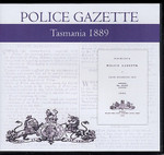 Tasmania Police Gazette 1889