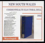 New South Wales Commonwealth Electoral Roll 1935 Warringah 1