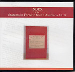 Index to the Statutes in Force in South Australia 1916