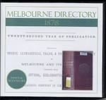 Melbourne Directory 1878 (Sands and McDougall)