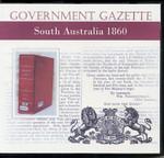 South Australian Government Gazette 1860